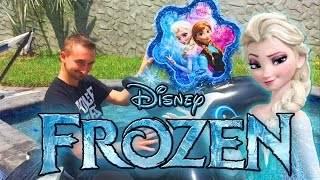 DISNEY FROZEN Surprise Piñata Challenge THROWING EGGS AT ME (Surprise Eggs + Toys) Pinata