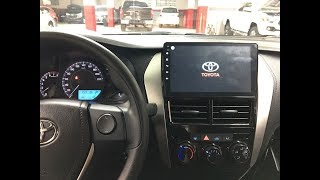 instalación Kit radio de pantalla Android   para Toyota Yaris sedan  2018 2020