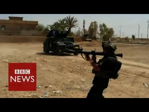Iraqi army attack on Islamic State (IS) jihadists