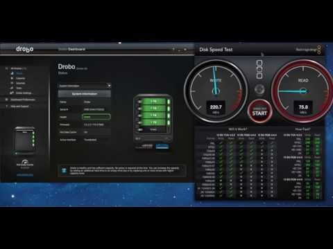 Drobo 5D with 5G Bolck Speed Test