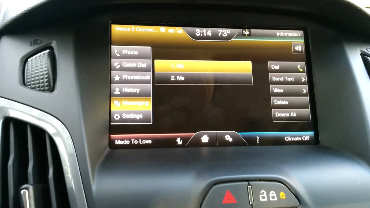 ford sync voice text. Black Bedroom Furniture Sets. Home Design Ideas