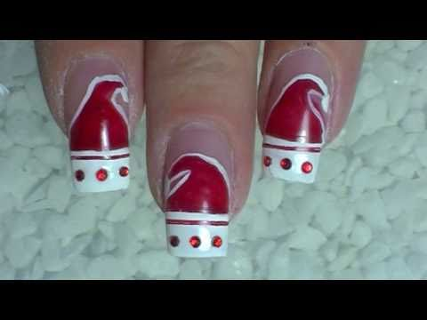 Christmas  Santa Claus is coming to nails  Tutorial