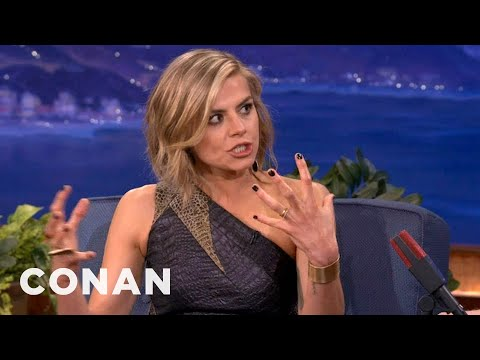 "Eliza Coupe: The ""Happy Endings"" Set Is One Big Sex Party  - CONAN on TBS"
