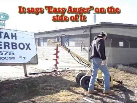 Easy Auger One Man Post Hole Digger Youtube