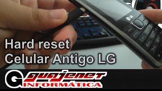 Formatar resetar aparelhos LG antigo senha errada erro