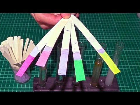 Как сделать лакмусовую бумагу (индикатор) своими руками / How to do a litmus paper