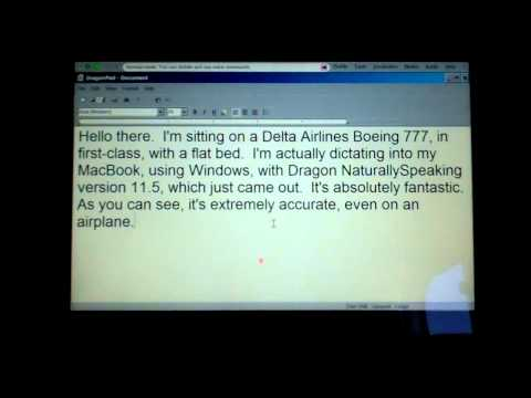 Voice Dictation on a Plane