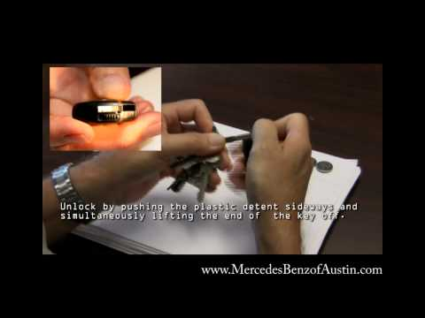 How to Replace the Battery in your Mercedes-Benz Smart Key - Change Batteries in Key (HD)