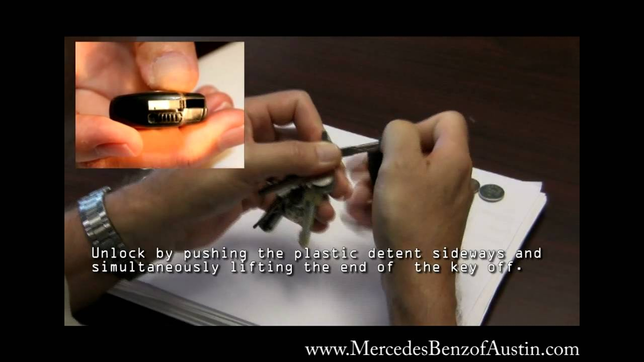 how to change battery in mercedes key 2008
