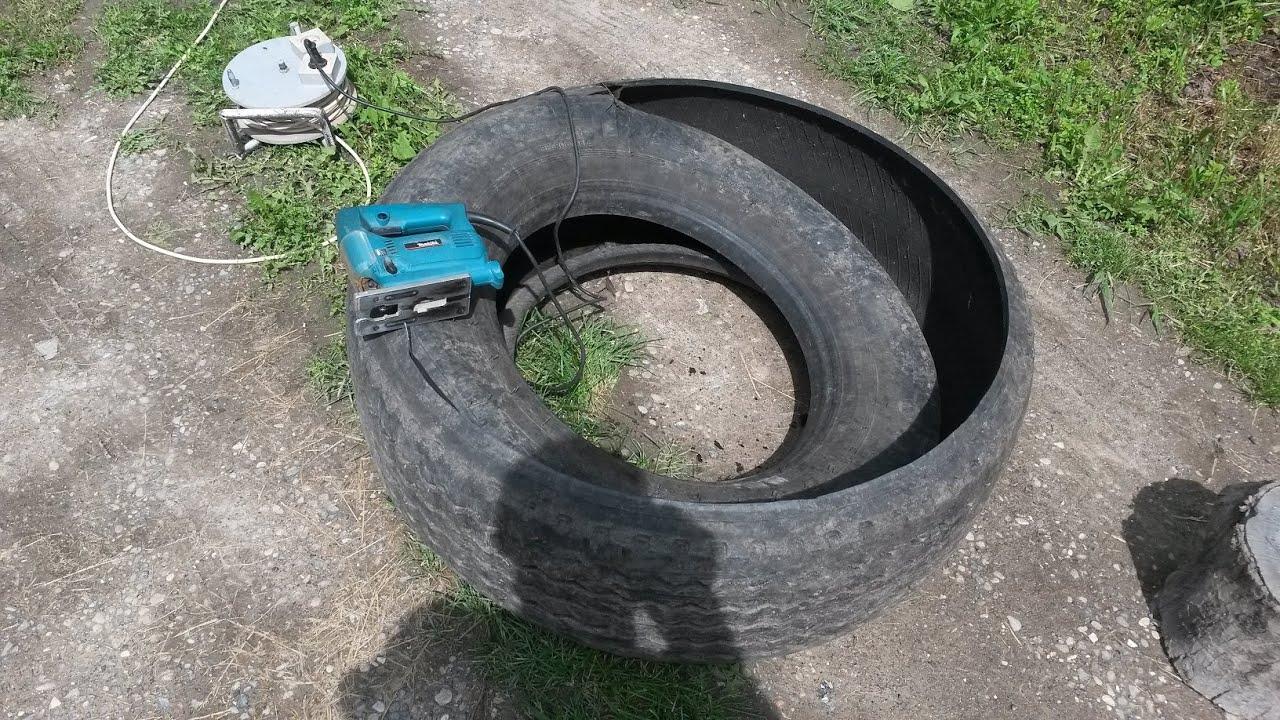 Канализация из автомобильных шин