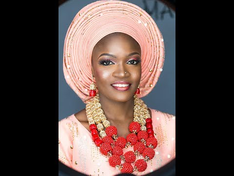 How to tie the nigerian bridal gele