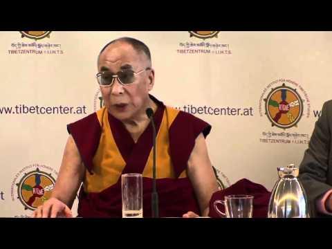 HH the Dalai Lama and Kalon Tripa Dr. Lobsang Sangay's Press conference at Vienna, Austria