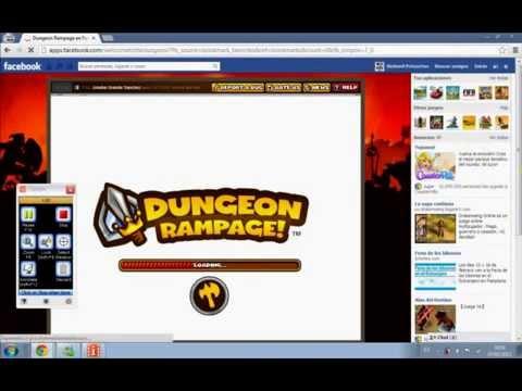 Como conseguir Gemas Gratis en el juego Dungeon Rampage de Facebook