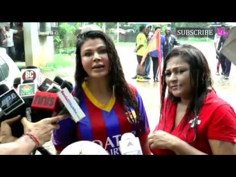 Rakhi Sawant play Football with poor children part 1
