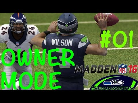 Madden NFL 16 Owner Mode   Seattle SEAHAWKS #01