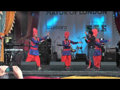 1 Best Punjabi Bhangra Music Dance At Vaisakhi 2014 Trafalgar Sq London video
