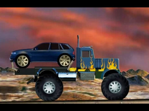 Trucks cartoons for children, Delivery trucks for kids, Truck videos for children