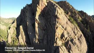 Mountain climbing from a drone!