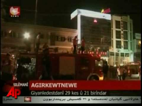 Raw Video: Fire in Iraqi Hotel Kills at Least 29