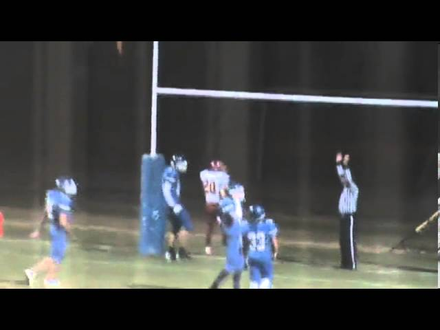 10-25-13 - It's the 1st of 4 touchdowns for Niko Guzman (Brush 20, Fort Lupton 0)
