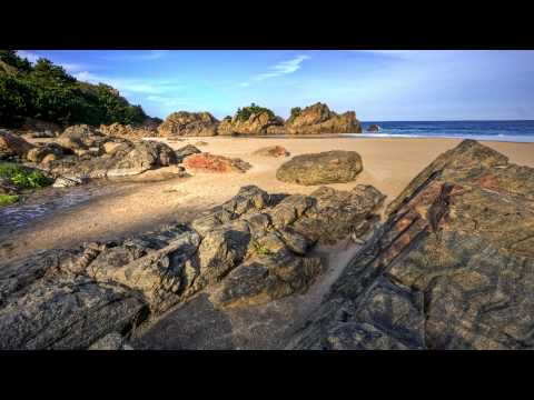 Relaxing meditation music featuring beaches around the world  in 1080p HD