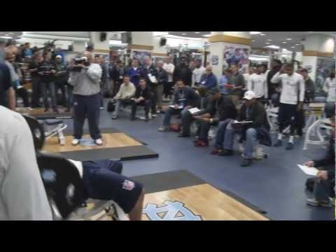 UNC Football Pro Timing Day 2013