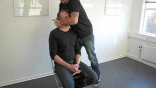 Lasota demostrate a Seated occipital manipulation