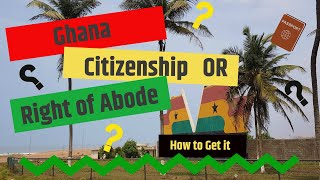 Ghana Citizenship, Diaspora Economic Impact and more | Mama Imahkus