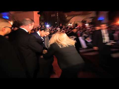 Leonardo DiCaprio and red carpet prankster
