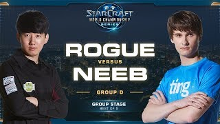 Rogue vs Neeb ZvP - Group D - 2019 WCS Global Finals - StarCraft II