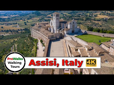 Assisi, Italy 2019 Walking Tour (4K/60fps)