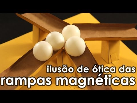 Ilusão de ótica das rampas magnéticas - How to make magnet slopes (optical illusion)