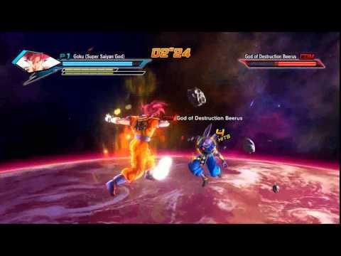 Goku ssj Deus vs Beerus