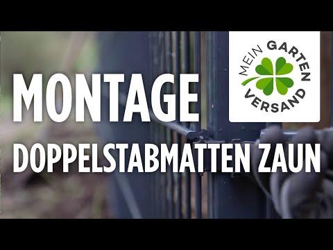 Mein Gartenversand: Doppelstabmatten Zaun Aufbauen