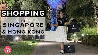 SHOPPING in SINGAPORE & HONG KONG! | Luxury Travel Vlog