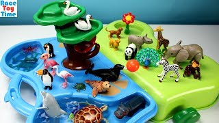 Playmobil 1-2-3 Animals Zoo and Aquarium Playset  Plus Extra Animal Figures