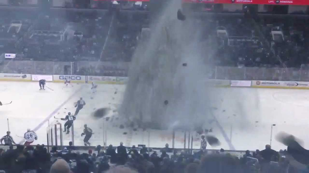 Tornado At The Hockey Game