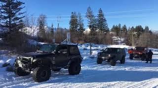 Chute Lake, Snow Wheeling on February 18