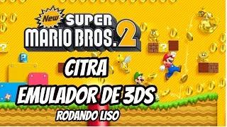 Citra 3DS - New Super Mario Bros 2 60FPS - RODANDO LISO