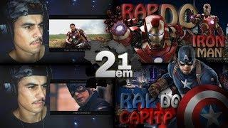 Rap do Capitão América & Homem de Ferro 2em1 7MZ [REACT/ ANÁLISE]
