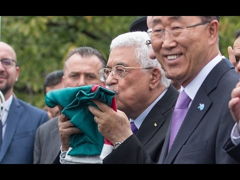 Palestinian flag raised at the UN headquarters