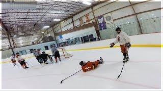 GoPro Hockey   HEAD-BUTT IN ADULT LEAGUE?!