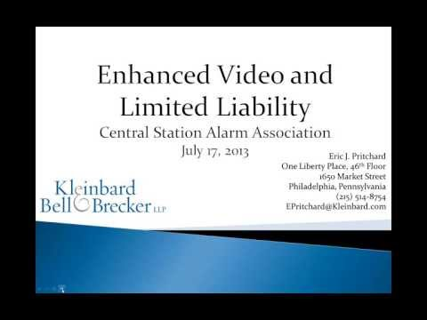 """Enhanced Video and Limited Liability"" CSAA Signature Webinar 7.17.13"