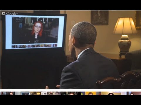 Ladyada on President Obama's Fireside G+ Hangout