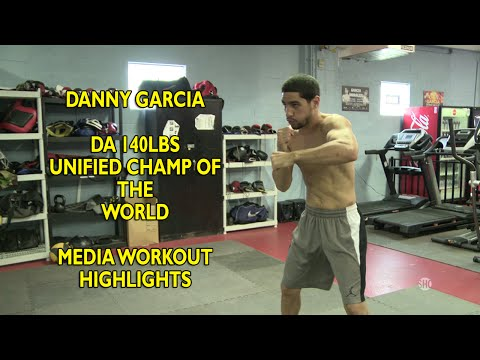 Danny Garcia vs Rod Salka Garcia media workout highlights