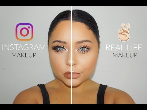 INSTAGRAM Vs. REAL LIFE Makeup