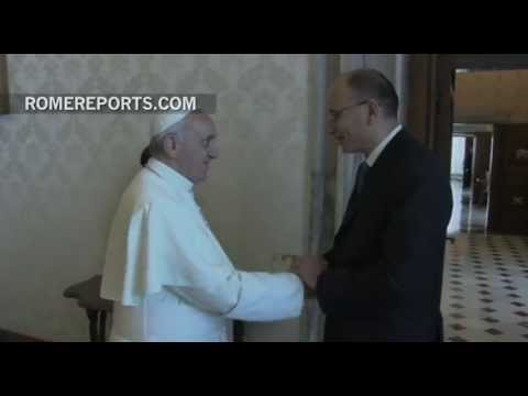 Pope Francis meets with Italian Prime Minister