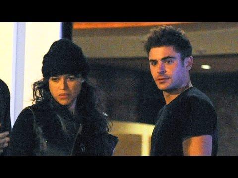 Zac Efron & Michelle Rodriguez Besándose en Ibiza en Discoteca