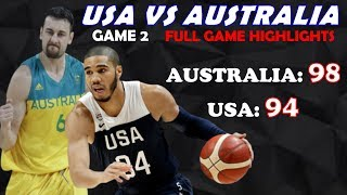 USA vs Australia Full Highlights (Game 2) | August 24, 2019 | Fiba World Cup Preparation