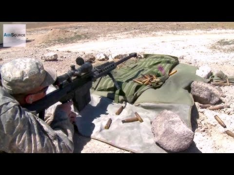 Army National Guard Shooting .50 Cal and M110 Sniper Rifles